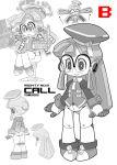 call call_e glasses mighty_no._9 monochrome robot robot_girl
