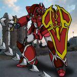 galient hirodango kikou-kai_galient mecha shield sword weapon