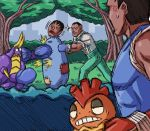 balrog boxing crabrawler dudley pokemon punching_bag scrafty street_fighter tagme