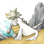 artist_request dewgong horn no_humans pokemon rhydon water