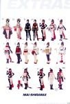 alternate_costume ass bikini boots breasts bridal_gloves cleavage concept_art eyepatch fatal_fury fingerless_gloves hair_up hips japanese_clothes kimono king_of_fighters leather leather_suit navel ninja official_art pelvic_curtain red_scarf scarf shiranui_mai short_hair standing tabi the_king_of_fighters_xiv thigh-highs thighs throwing_knife variations