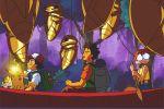 90s animated animated_gif boat kakuna kasumi_(pokemon) lantern lowres on_water paddle paddling pikachu pokemon pokemon_(anime) satoshi_(pokemon) scared takeshi_(pokemon) togepi watercraft