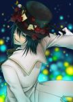 alice_in_the_country_of_the_heart black_hair blood_dupre flower gloves green_eyes hat short_hair smile