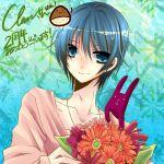:3 blue_eyes blue_hair clear niconico_douga smile usagi_suna(artist)