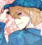 1boy blue_eyes brown_hair hat luke_triton professor_layton short_hair smile solo