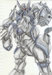 80s artist_request centaur highres kikou-kai_galient mecha promaxis shield