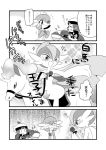 10s 4koma :d bano_akira cape comic flower flying_sweatdrops gallade gardevoir grin monochrome open_mouth pokemon pokemon_(creature) pokemon_(game) pokemon_oras rapidash rose sharp_teeth sharpedo smile smirk sweatdrop teeth translation_request yuuki_(pokemon) yuuki_(pokemon)_(remake) |_|