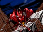 80s artist_request galient kikou-kai_galient mecha sword weapon