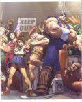adon blanka capcom charlie_nash everyone highres juli kasugano_sakura panties rose_(street_fighter) scan school_uniform street street_fighter street_fighter_i street_fighter_ii street_fighter_zero street_fighter_zero_i street_fighter_zero_ii street_fighter_zero_iii t_hawk thunder_hawk udon udon_entertainment underwear