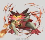 10s character_name fire grey_background highres kenshih no_humans pokemon pokemon_(creature) pokemon_(game) pokemon_sm simple_background solo turtonator