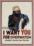 1boy artist_name face_mask i_want_you jacket looking_at_viewer male_focus mask overwatch parody pointing pointing_at_viewer poster propaganda sandra_molina_juan scar signature soldier:_76_(overwatch) solo twitter_username upper_body visor white_hair