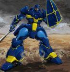 80s itsuka_(ituka) kikou-kai_galient mecha shield sword weapon zuwel