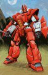 80s galient highres itsuka_(ituka) kikou-kai_galient mecha no_humans sword weapon