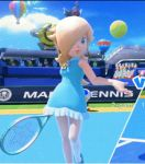 3d animated animated_gif mario_tennis rosetta_(mario) super_mario_bros. tagme
