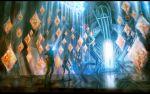 bodysuit flashlight highres lights original reflective_floor science_fiction scifi