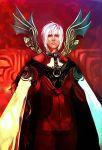 1boy albedo_piazzolla albino cloak closed_mouth collared_shirt cowboy_shot gloves kamemushi lowres male_focus solo violet_eyes white_hair wings xeno_(series) xenosaga
