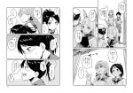 /\/\/\ 4girls akashi_(kantai_collection) arms_behind_back blush closed_mouth comic dress eyebrows female_admiral_(kantai_collection) greyscale hair_ribbon hat headgear index_finger_raised kantai_collection long_hair military military_uniform monochrome multiple_girls murakumo_(kantai_collection) nathaniel_pennel naval_uniform page_number peaked_cap profile ribbon sailor_dress school_uniform serafuku shikinami_(kantai_collection) smile speech_bubble standing sweatdrop thick_eyebrows translation_request tress_ribbon uniform
