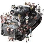 6+girls @_@ aki_(girls_und_panzer) alisa_(girls_und_panzer) anchovy artillery ass black_hair boko_(girls_und_panzer) breasts brown_eyes brown_hair butt_crack carpaccio dr._strangelove extra girls_und_panzer girls_und_panzer_gekijouban ground_vehicle isobe_noriko kadotani_anzu karl_gerat katahira_masashi kawanishi_shinobu kawashima_momo kay_(girls_und_panzer) kondou_taeko koyama_yuzu long_hair mika_(girls_und_panzer) mikko_(girls_und_panzer) military military_vehicle motor_vehicle multiple_girls pantyhose parody pepperoni_(girls_und_panzer) rumi_(girls_und_panzer) sasaki_akebi school_uniform serafuku shimada_arisu short_hair stuffed_toy tank thigh-highs white_legwear x-ray