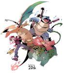 2016 90s anniversary artist_request backpack black_hair blastoise charizard copyright_name fire hat pikachu pokemon pokemon_(creature) pokemon_(game) pokemon_rgby red_(pokemon) red_(pokemon)_(classic) venusaur