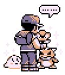 1boy 90s artist_request backpack hat male_focus pokemon pokemon_(game) pokemon_rgby red_(pokemon) red_(pokemon)_(classic) solo tagme white_background