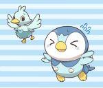 00s 10s artist_request ducklett flying no_humans piplup pokemon pokemon_(game) pokemon_dppt pokemon_sm simple_background tagme