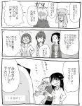 andou_tsubaki comic iguchi_yumi kiryuu_suruga miyamori_aoi monochrome ogasawara_rinko sakaki_shizuka satou_sara shirobako translation_request white_background yano_erika yasuhara_ema