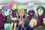 5girls indigo_zap lemon_zest multiple_girls my_little_pony my_little_pony_equestria_girls my_little_pony_friendship_is_magic school_uniform sour_sweet sugar_coat sunny_flare tagme uotapo