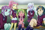5girls indigo_zap lemon_zest multiple_girls my_little_pony my_little_pony_equestria_girls my_little_pony_friendship_is_magic school_uniform sour_sweet sugar_coat sunny_flare tagme uotapo