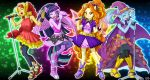 4girls adagio_dazzle multiple_girls music my_little_pony my_little_pony_equestria_girls my_little_pony_friendship_is_magic personification singing sunset_shimmer tagme trixie_lulamoon twilight_sparkle uotapo