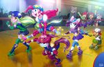 6+girls apple_bloom babs_seed lemon_zest maud_pie multiple_girls my_little_pony my_little_pony_equestria_girls my_little_pony_friendship_is_magic personification pinkie_pie rarity roller_skates scootaloo skates sunny_flare sweetie_belle tagme uotapo