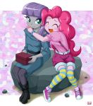 2girls maud_pie multiple_girls my_little_pony my_little_pony_equestria_girls my_little_pony_friendship_is_magic personification pinkie_pie tagme uotapo