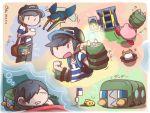 10s artist_request charjabug crossover dreaming grubbin joltik kirby kirby_(series) male_protagonist_(pokemon_sm) pokemon pokemon_(game) pokemon_sm sleeping tagme