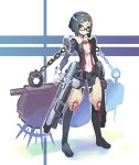 busou_shinki glasses grave_(gungrave) gungrave hair_ornament hairclip harmony_grace mecha_musume parody shigehiro shigehiro_(artist) short_hair weapon