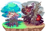 claws grass horns monster nintendo noni-nani pokemon tree xerneas yveltal