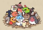 ;) artist_name bird blush_stickers chatot crow fletchling hoothoot huiro murkrow natu nest no_humans one_eye_closed owl pidgey pidove pikipek pokemon pokemon_(creature) pokemon_(game) rufflet seagull smile solid_oval_eyes sparrow spearow starly swablu taillow trait_connection vullaby wingull