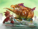 brown_hair capcom hauzer horns leo_(warzard) mononoke_(artist) mononoke_(empty) sword warzard weapon wings