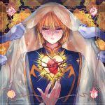 1boy blonde_hair blood chains earring heart hunter_x_hunter kurapika red_eyes tears