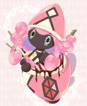 amano_himame blue_eyes blueberry food fruit ice_cream no_humans pokemon pokemon_(creature) pokemon_(game) pokemon_sm solo sparkle strawberry tapu_lele