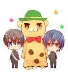 2boys amagi_brilliant_park chibi gakuran high_speed! kirishima_ikuya kyoto_animation male_focus moffle multiple_boys nanase_haruka_(free!) tagme