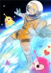 1boy astronaut blonde_hair free! hazuki_nagisa male_focus pink_eyes sapce