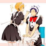 2boys crossdressing free! hazuki_nagisa maid male_focus matsurinnu multiple_boys ryuugazaki_rei tagme