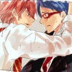 2boys free! glasses male_focus multiple_boys ryuugazaki_rei shigino_kisumi tagme