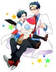 2boys free! glasses male_focus multiple_boys ryuugazaki_rei tagme younger