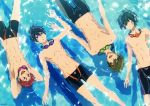 high_speed! kirishima_ikuya male_focus maruko_tatsunari nanase_haruka_(free!) official_art shiina_asahi swimsuit tachibana_makoto topless
