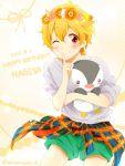 1boy free! hazuki_nagisa male_focus matsurinnu shorts tagme wink