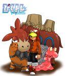 1boy artist_request camerupt hat magcargo pixiv_trainer poke_ball pokemon torkoal