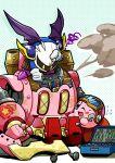 artist_request goggles kirby kirby:_planet_robobot kirby_(series) mask mecha meta_knight nintendo screwdriver smoke sweat wings wrench