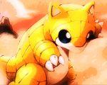 artist_request no_humans pokemon sandshrew solo