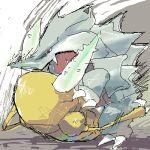 battle no_humans pinsir pokemon rhyhorn