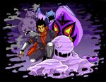 arbok artist_request black_hair golbat kyou_(pokemon) muk ninja pokemon weezing